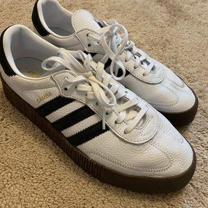 Adidas white and black samba sneakers